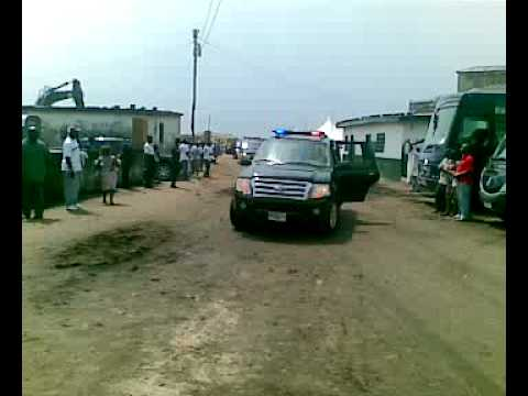 President Kufuor's convoy at James Town