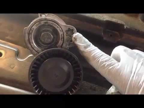 hqdefault bmw drive belt tensioner pulley replacement part 1 youtube
