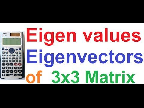 Eigenvalues and Eigenvectors of 3x3 Matrix Easily Explained on Casio fx-991ES Calculator
