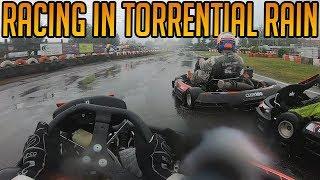 Kart Racing In The Torrential Rain