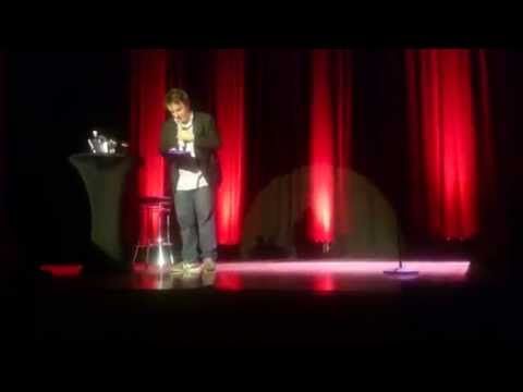 Dylan Moran given a box of cookies (Hamilton NZ)