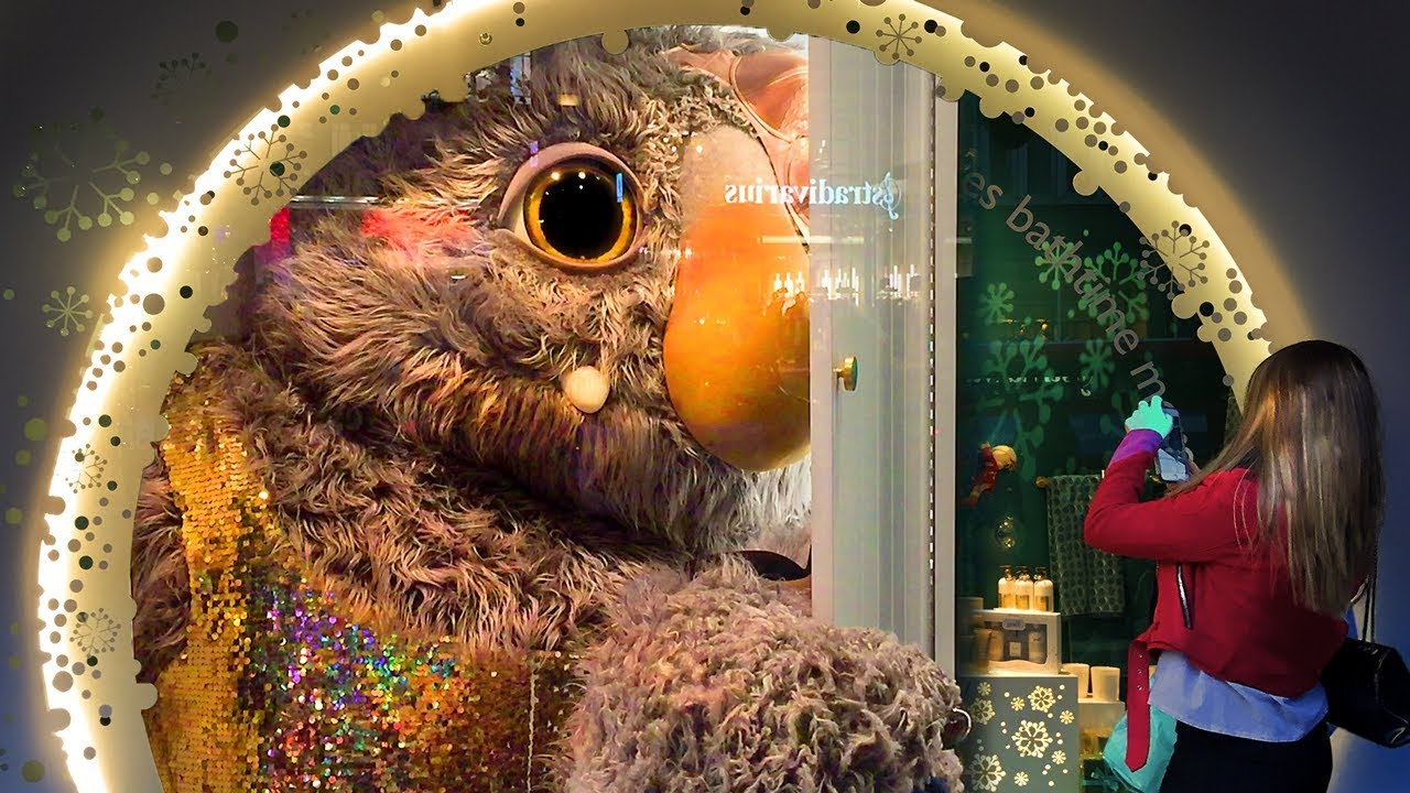 moz the monster john lewis oxford street christmas window display england youtube. Black Bedroom Furniture Sets. Home Design Ideas