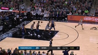2nd Quarter, One Box Video: San Antonio Spurs vs. Minnesota Timberwolves