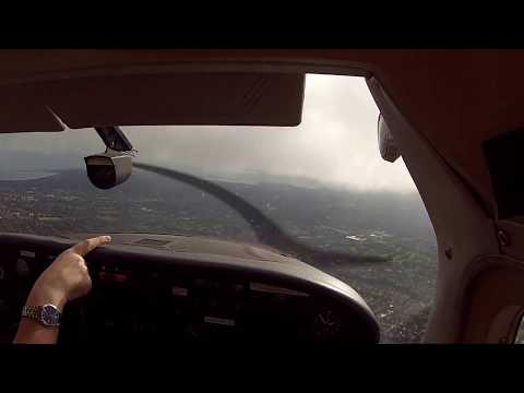 MINIMUM VFR DEPARTURE from Weston (Dublin) in the Cessna 182 ATC AUDIO