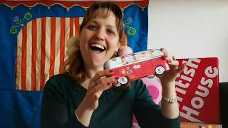 British House Music time in English: The wheels on the bus
