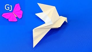 видео как сделать голубя из бумаги