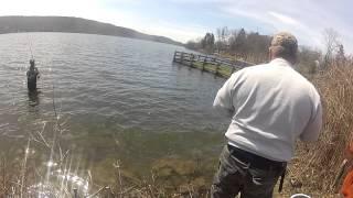 Trout Fishing Walton Lake, Monroe Ny 4 16 2015