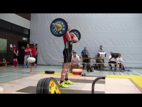 Video 5 Baden Württembergische Meisterschaft Gewichtheben Jugend Fellbach 2016 06 11