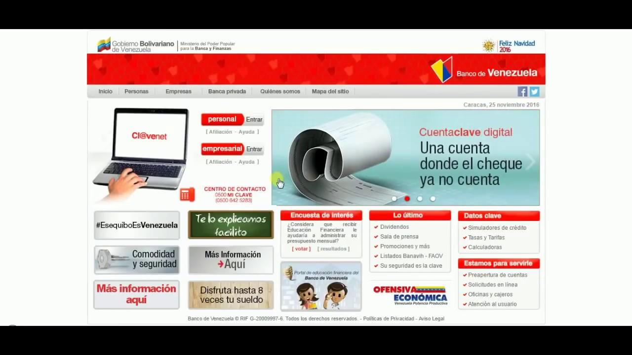 Solicitud de credinomina en el banco venezuela youtube for Banco de venezuela solicitud de chequera