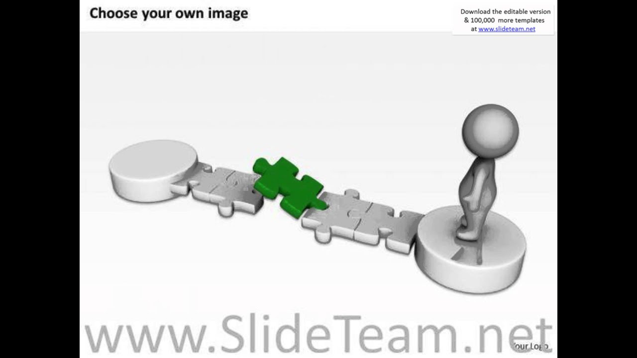 small resolution of work flow business process diagram 3d man blue puzzle solution powerpoint slides presentation infogr
