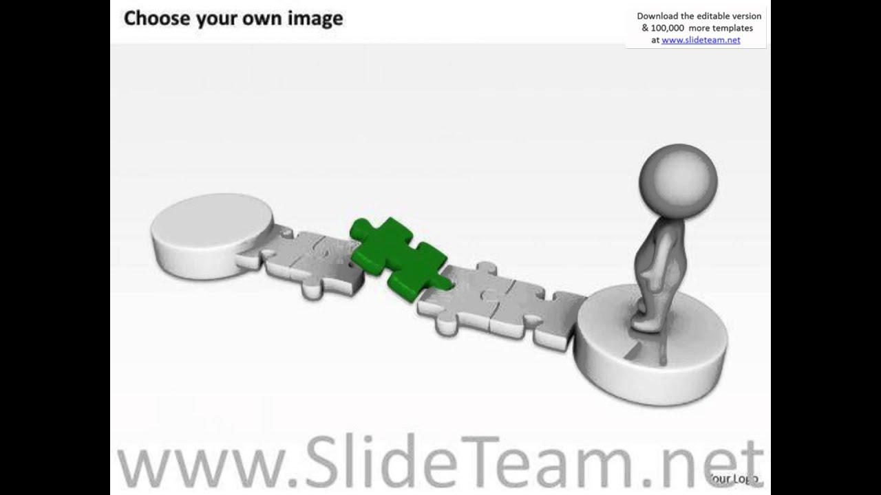 hight resolution of work flow business process diagram 3d man blue puzzle solution powerpoint slides presentation infogr