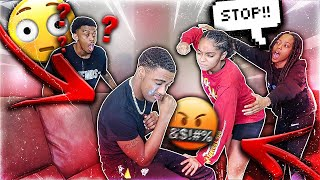 MY GIRLFRIEND BECAME ABUSIVE IN FRONT OF COMPANY PRANK! (GETS VIOLENT)