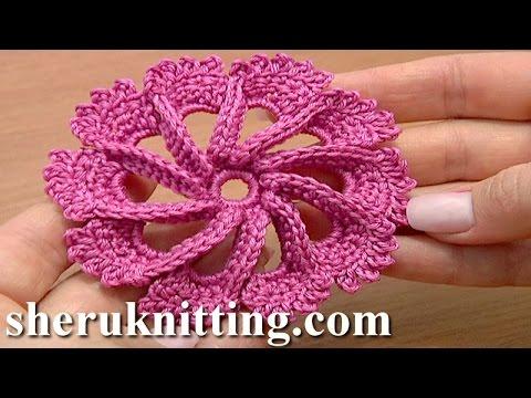 Crochet 3d Flower Twisted Petals How To Tutorial 50 Flor Crochet O