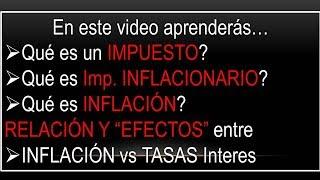 INFLACION vs TASAS de Interes: a que se llama Tasa de Interes