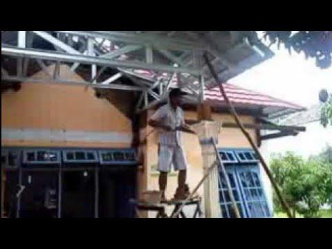baja ringan teras rumah pemasangan di depan youtube