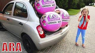 الكرة العملاقة الضخمة المفاجئة في سيارة الأم