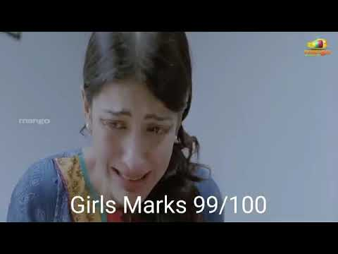How do boys and girls react after exam results