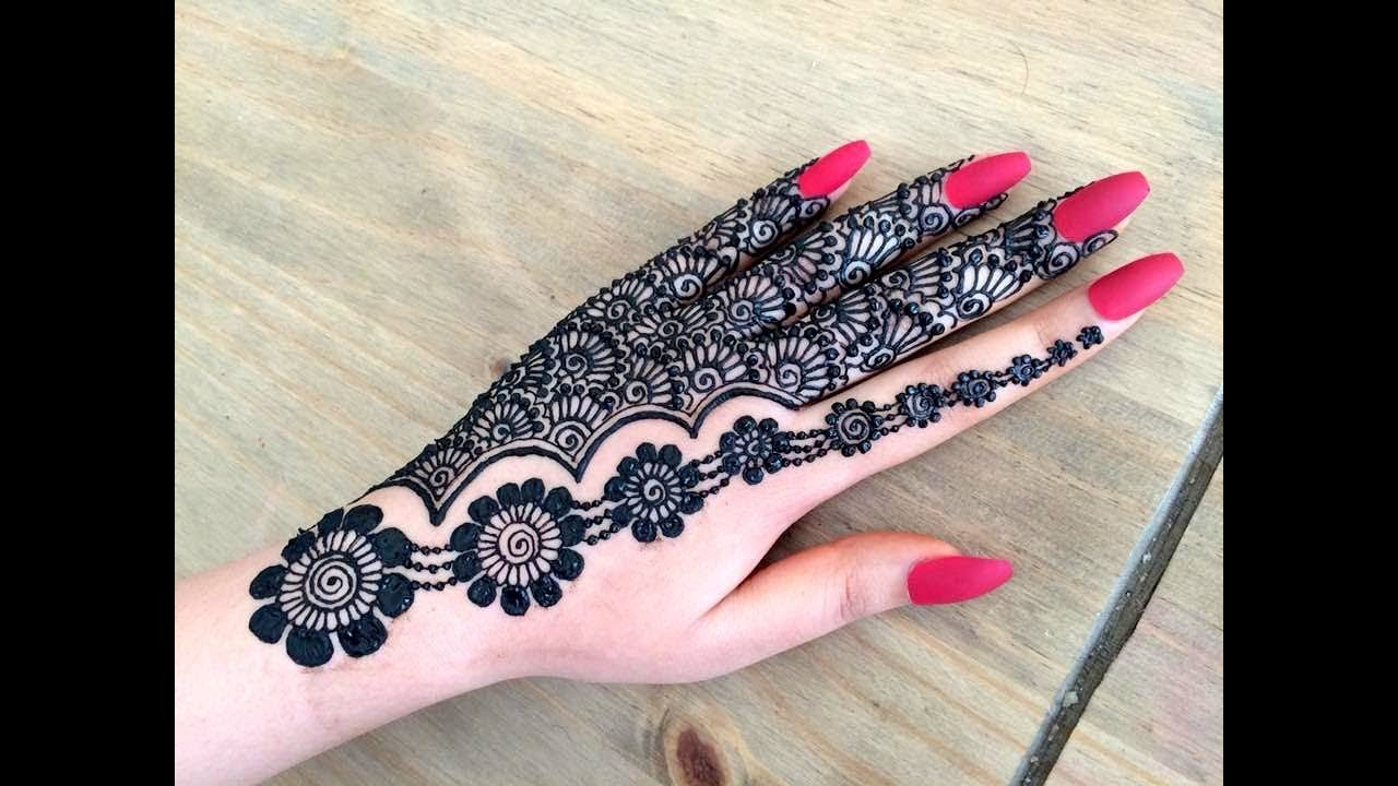 Lovely Henna Designs That Are Easy To Repeat: Beautiful Stylish Girly Henna Jewellery Simple Easy Party