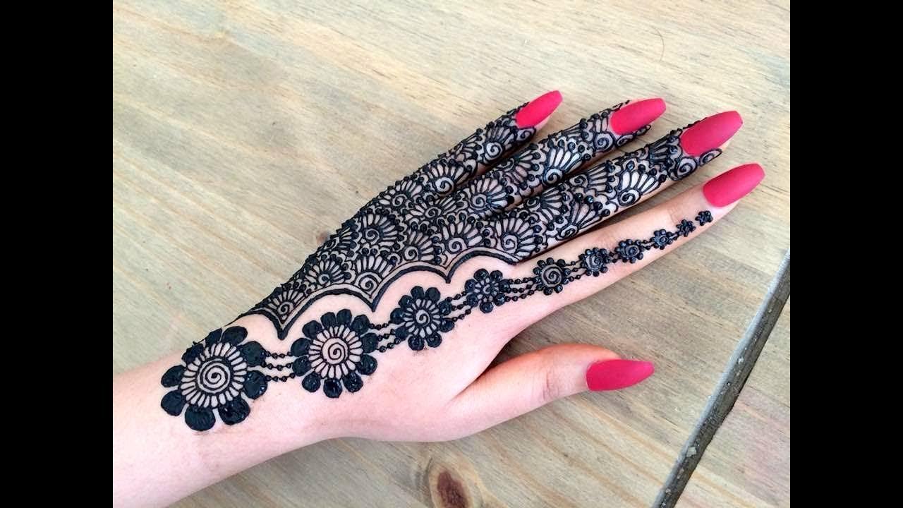 Pretty Henna Designs: Beautiful Stylish Girly Henna Jewellery Simple Easy Party