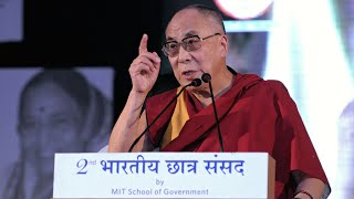 His Holiness, Dalai Lama speaking at the 2nd Bharatiya Chhatra Sansad 2012, Pune, Maharashtra