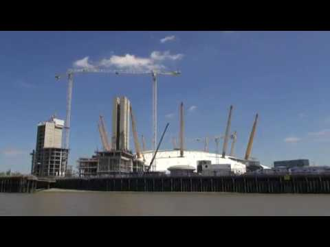 Englands Buildings - Dome, Cable Car & Thames Barrier