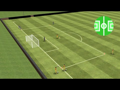 Fitness duel 2:1 in the penalty area (Part 1)