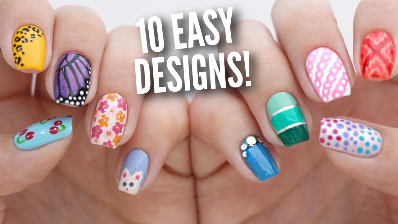 10 Easy Nail Art Designs for Beginners: The Ultimate Guide #5 - YouTube