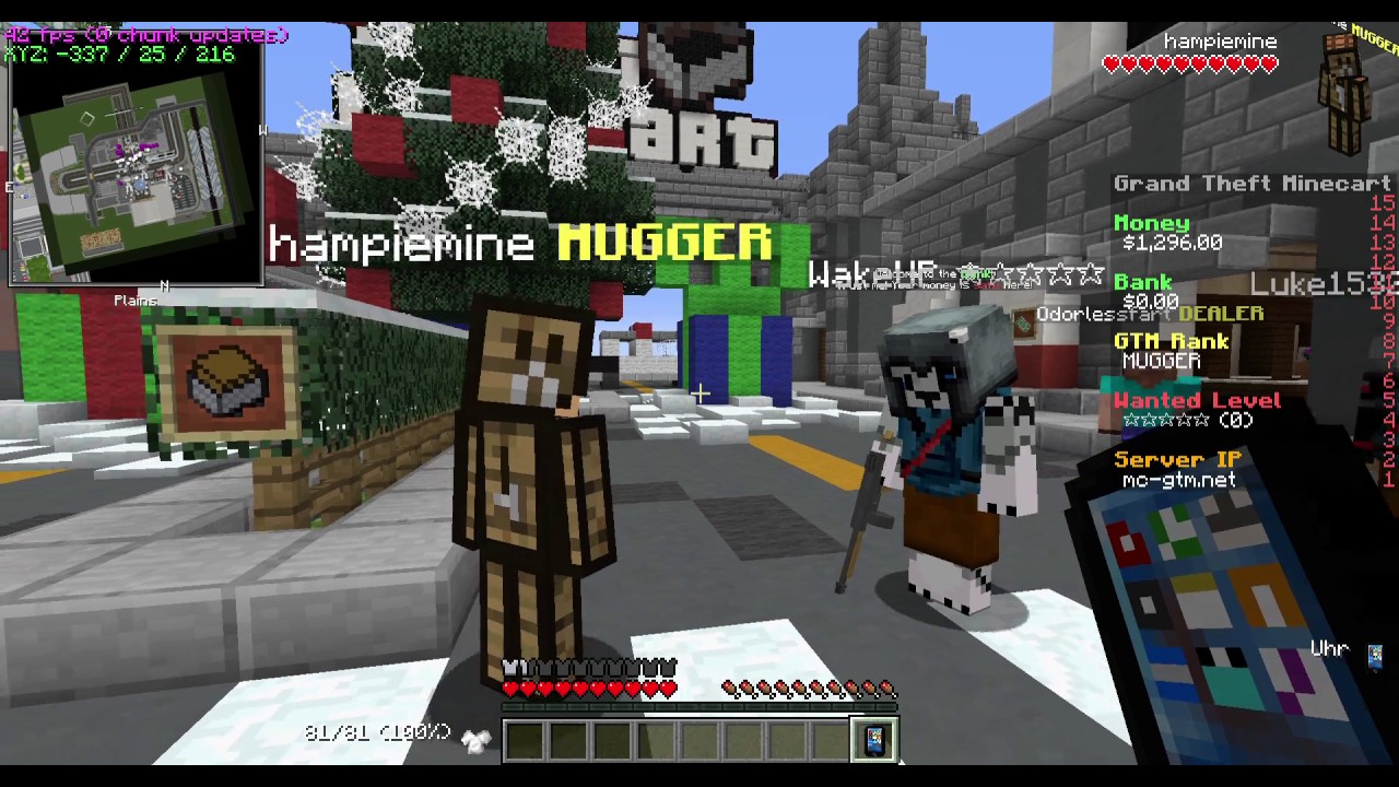 Servers GTA Minecraft Server YouTube - Minecraft server jetzt spielen
