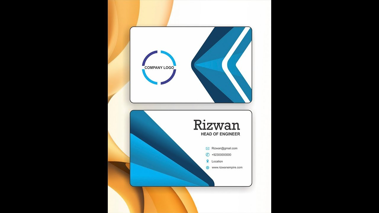 Download business card Tutorial # 1 design in coreldraw x7