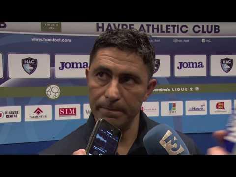 Après HAC - Valenciennes (1-0), réaction d'Oswald Tanchot