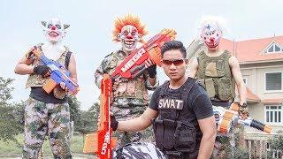NERF WAR : SWAT Warriors Nerf Guns Fight Attack Crime mask Avenge Yourself