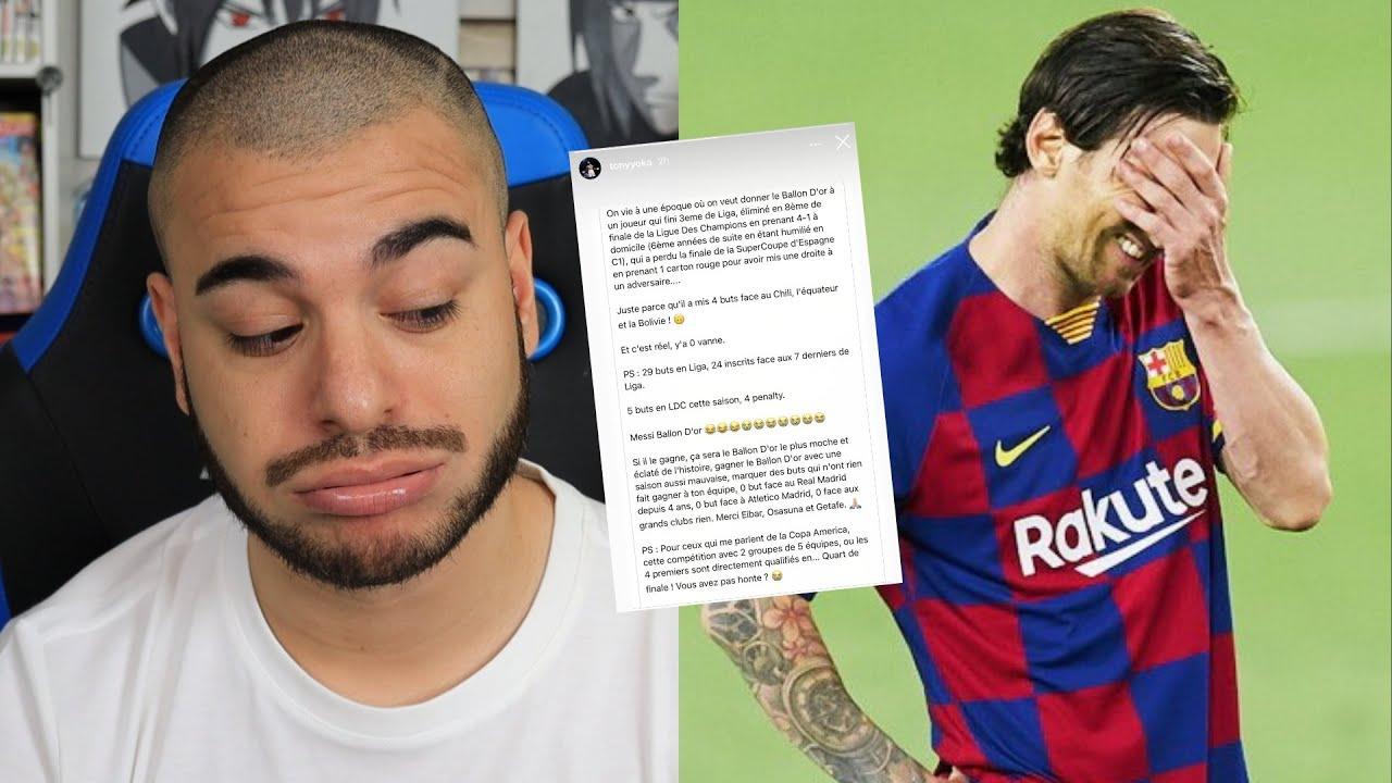 Messi se fait clasher. (Tony Yoka s'en prend à Messi sur Instagram)