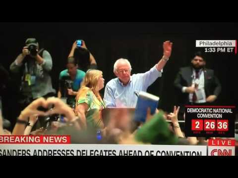 Jane Sanders says something in Mic 7/25/16 Rally before DNC