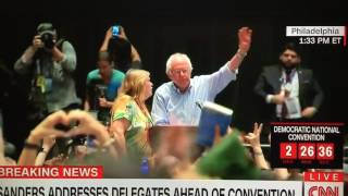 Jane Sanders says something in Mic 7/25/16 Rally before DNC by : Cynthia O