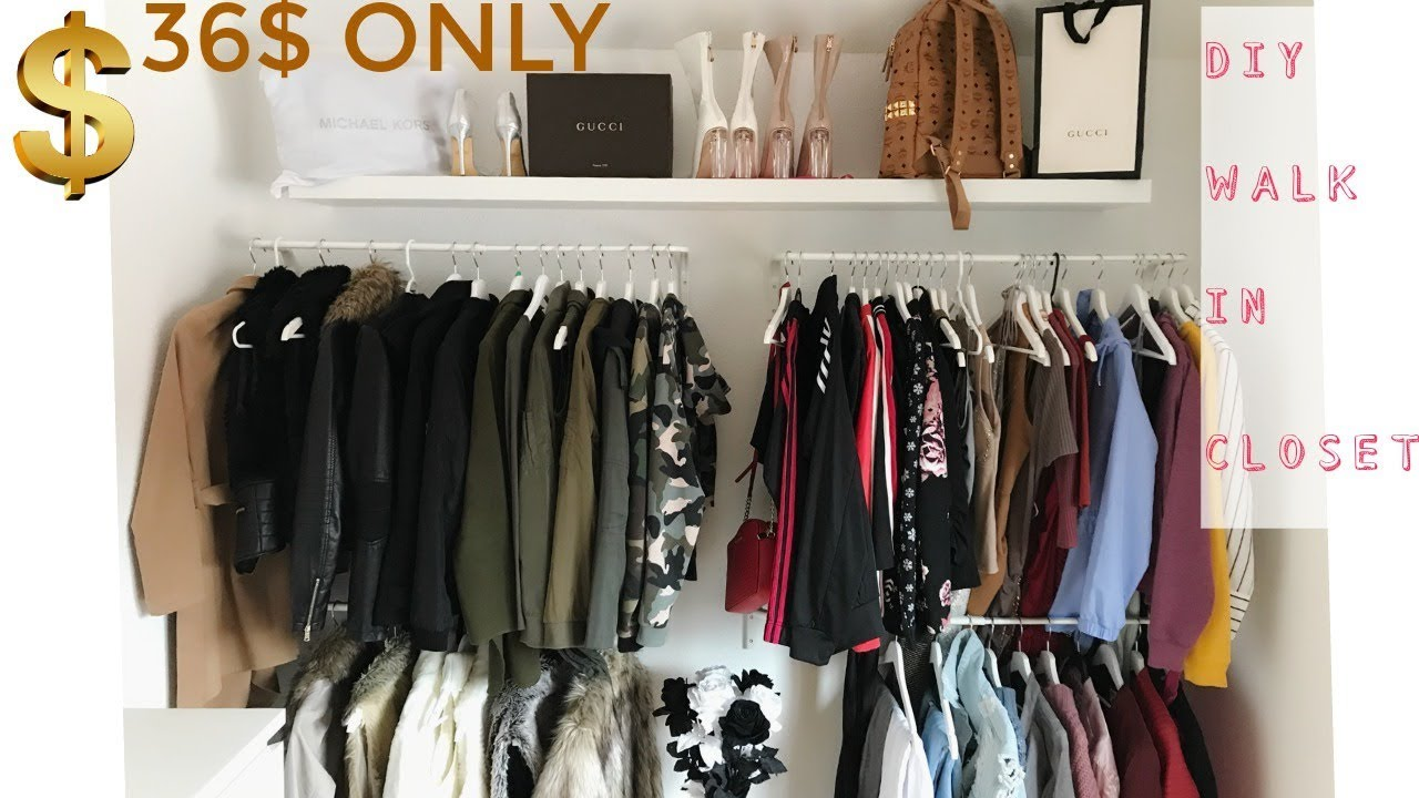 DIY WALK IN CLOSET | CHEAP & EASY - YouTube