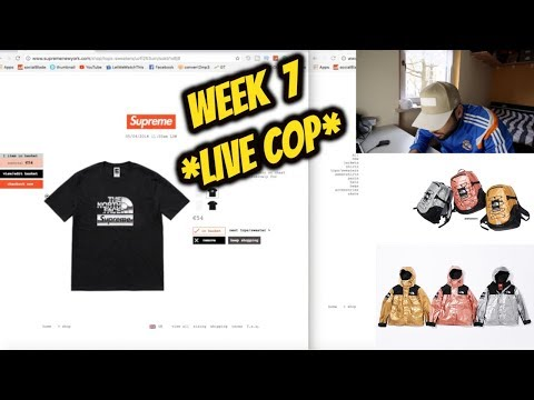 *LIVE COP* Supreme®/The North Face® WEEK 7 SS18!!!