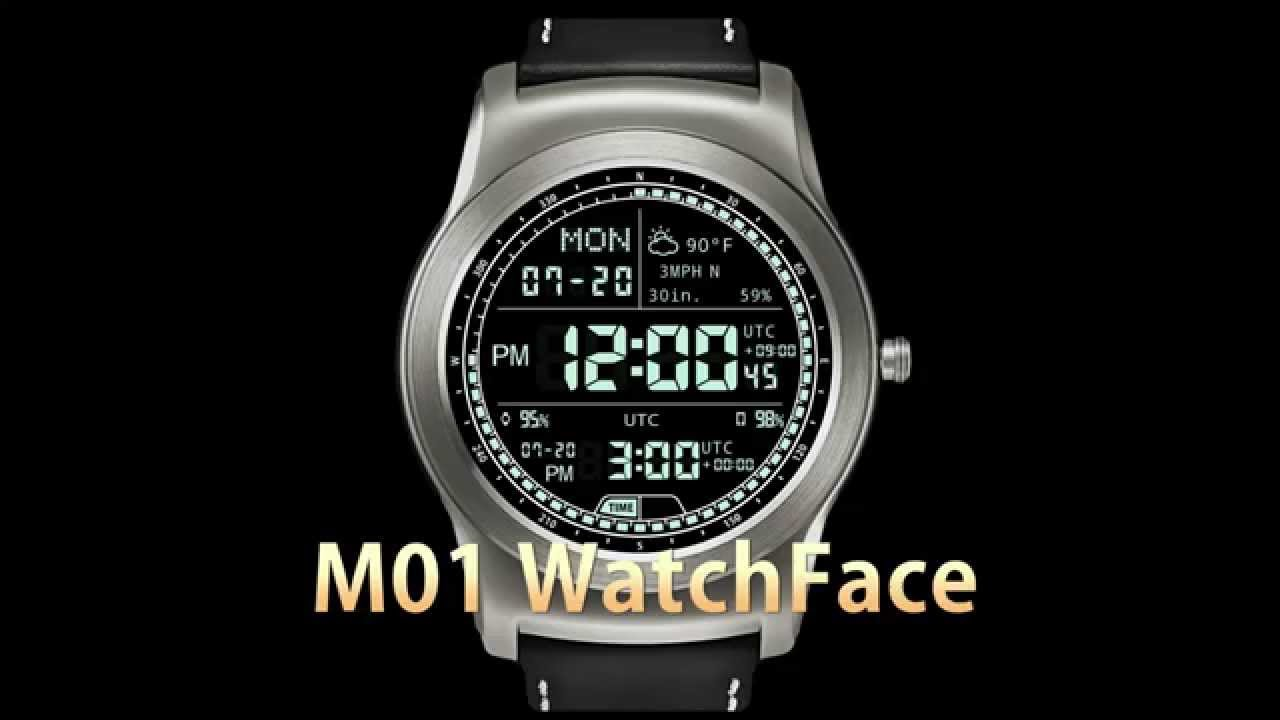 M01 WatchFace for Android Wear / LG Watch Urbane / G Watch ...