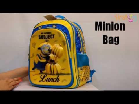Minion Camera Case : Minions favourite subject school bag with rain cover youtube