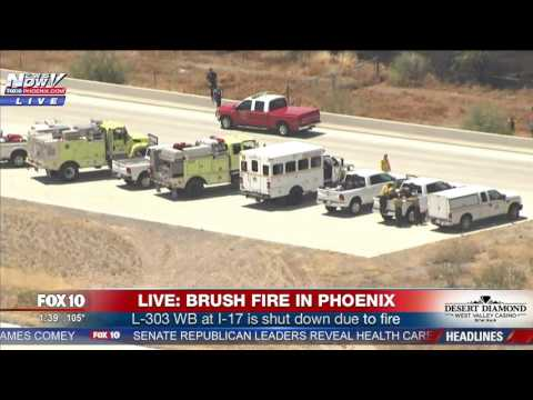 FULL COVERAGE: Massive Fire Shuts Down I-17 Freeway in North Phoenix (FNN)