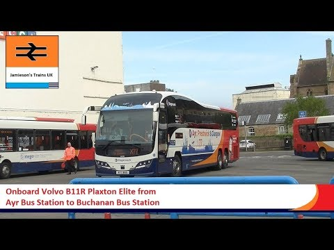 Onboard Volvo B11R Plaxton Elite From Ayr Bus Station To Buchanan Bus Station