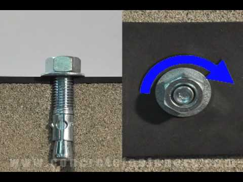 Wedge Anchors For Attaching A Pedestal To Concrete Youtube