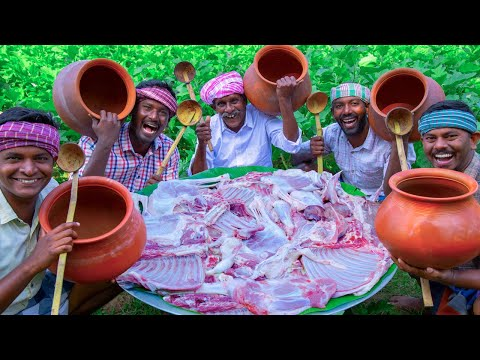 CLAY POT MUTTON CURRY | Traditional Mutton Recipe Cooking in Village | Mud Pot Mutton Recipes