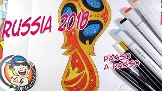 COMO DESENHAR SÍMBOLO DA COPA DA RUSSIA 2018