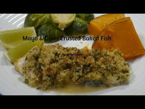 Lemon & Dijon Crusted Baked Fish