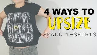 4 WAYS TO UPSIZE T-SHIRTS! @coolirpa
