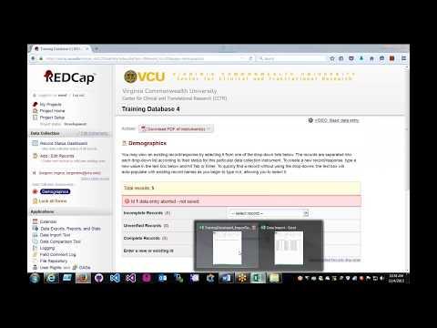 REDCap Data Import Tool