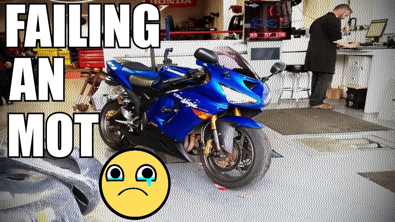 how to pass fail a motorcycle mot test my new kawasaki zx6r rh youtube com Vosa MOT Test Vosa MOT Test