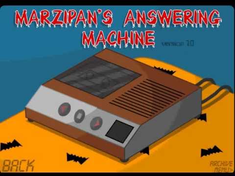 marzipan answering machine