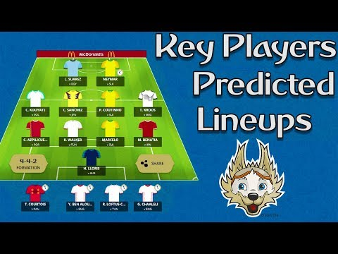 World Cup tasy : Key Players & Predicted Lineups ⚽ Part 1