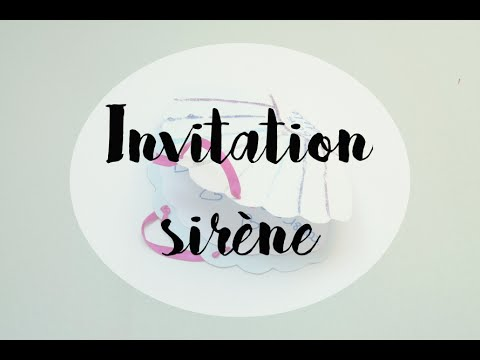 Gouter Danniversaire Invitations Sirène Diy